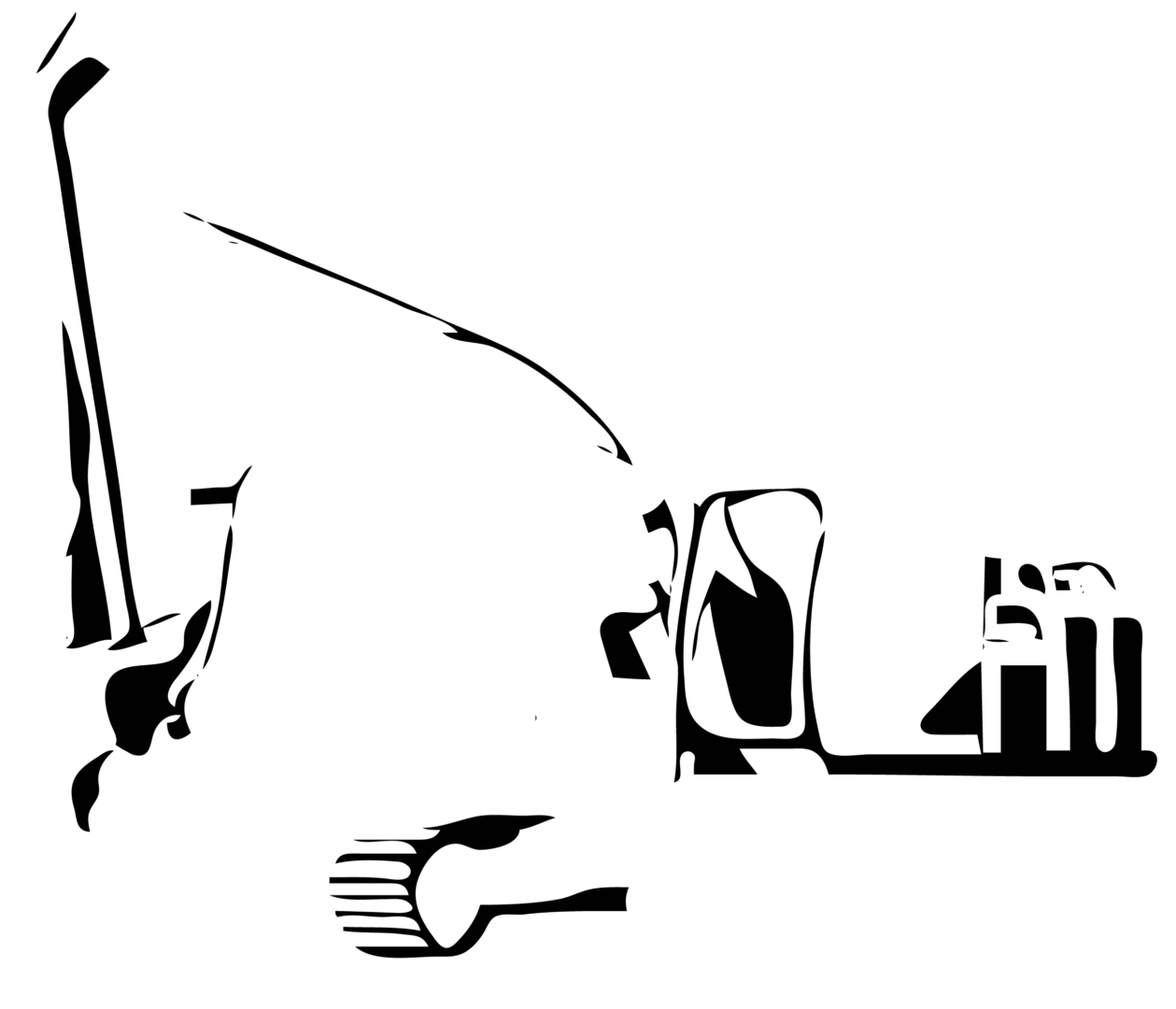 PinClipart.com black and white backhoe 508951 3 - Home